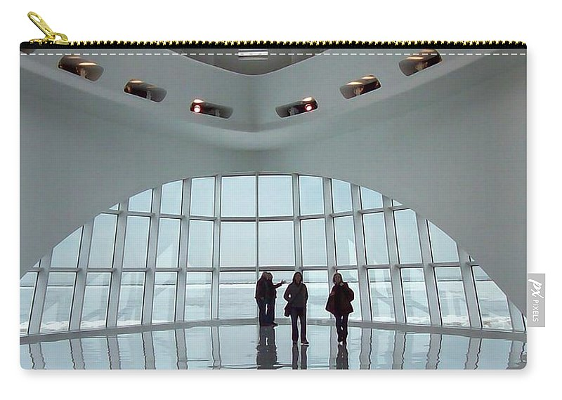 Milwaukee Carry-all Pouch featuring the photograph Milwaukee Art Museum Inside by Lauri Novak