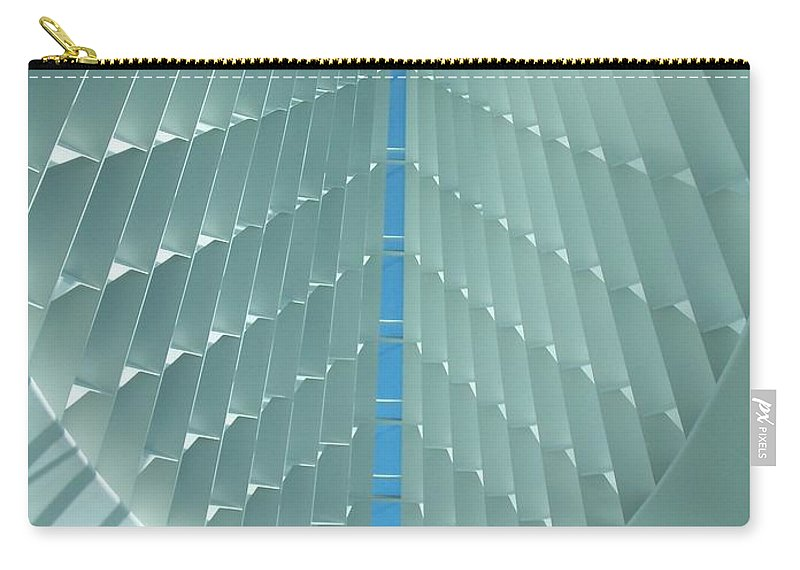 Mam Carry-all Pouch featuring the photograph Milwaukee Art Museum Interior by Anita Burgermeister