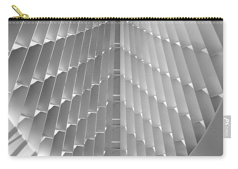Mam Carry-all Pouch featuring the photograph Milwaukee Art Museum Interior B-w by Anita Burgermeister
