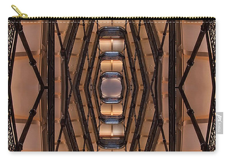 Milwaukee Carry-all Pouch featuring the photograph Milwaukee City Halll Atrium by Scott Norris