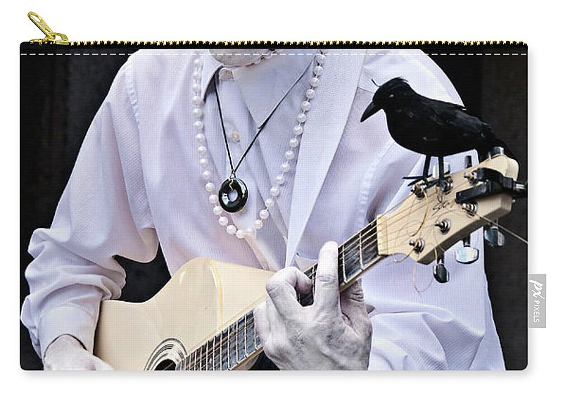 Photography Carry-all Pouch featuring the photograph Mime And Guitar by Kathleen K Parker