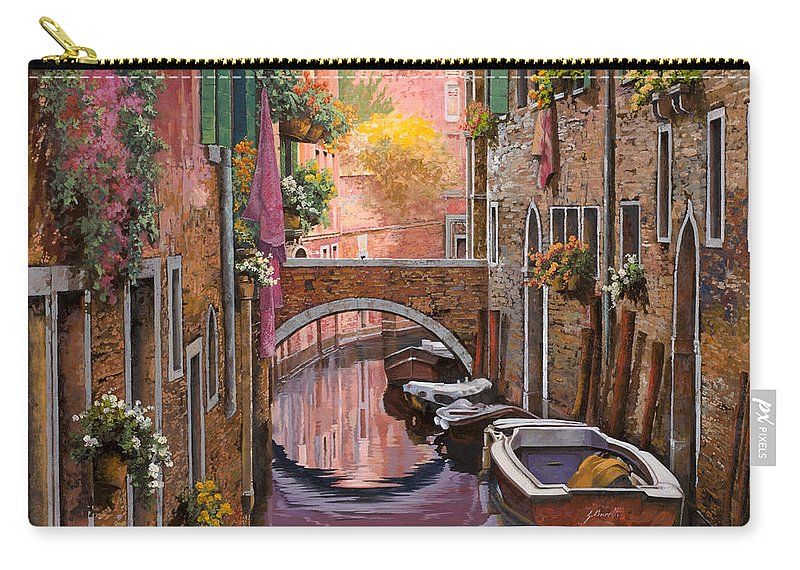 Venice Carry-all Pouch featuring the painting Mimosa Sui Canali by Guido Borelli