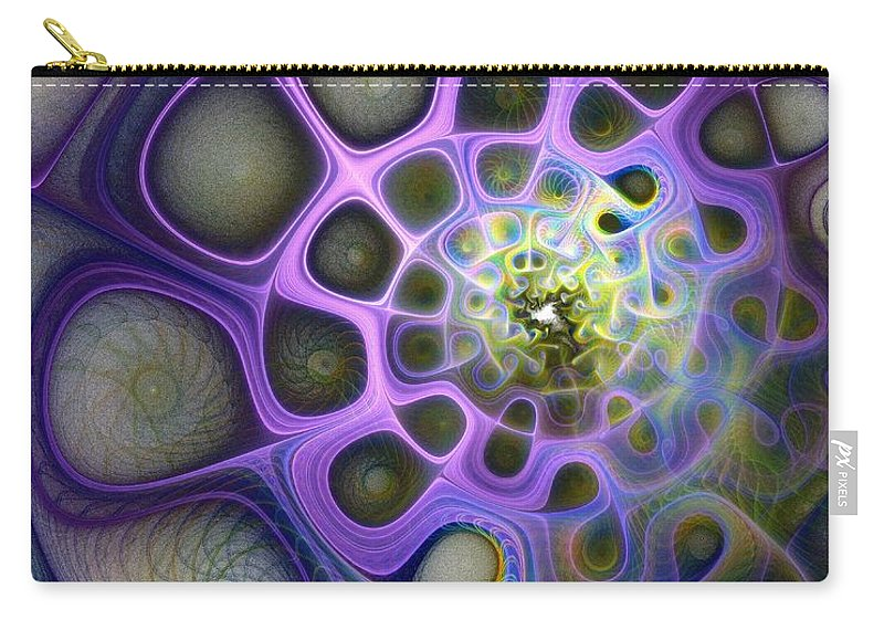 Digital Art Carry-all Pouch featuring the digital art Mindscapes by Amanda Moore