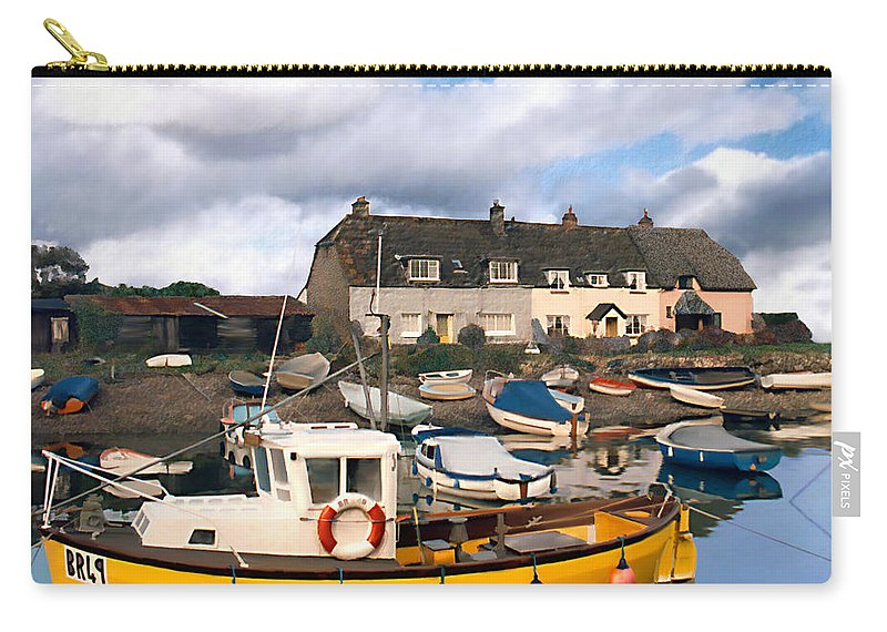 Harbor Carry-all Pouch featuring the photograph Minehead Sommerset by Kurt Van Wagner