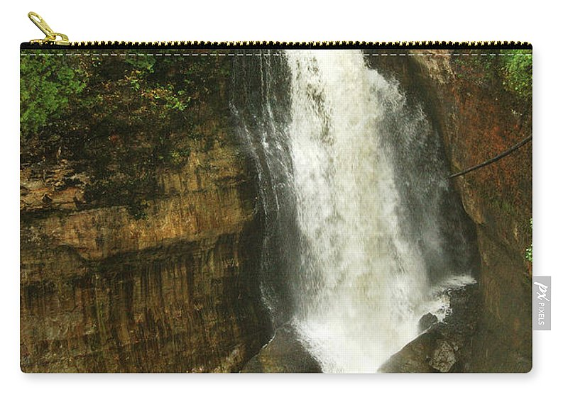 Miners Falls Carry-all Pouch featuring the photograph Miners Falls by Michael Peychich