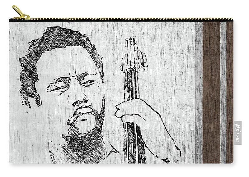 Charles Carry-all Pouch featuring the digital art Mingus - Ah Um by Regina Wyatt