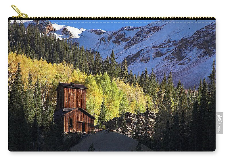 Colorado Carry-all Pouch featuring the photograph Mining Ruins by Steve Stuller