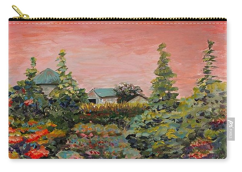 Minnesota Carry-all Pouch featuring the painting Minnesota Memories by Nadine Rippelmeyer