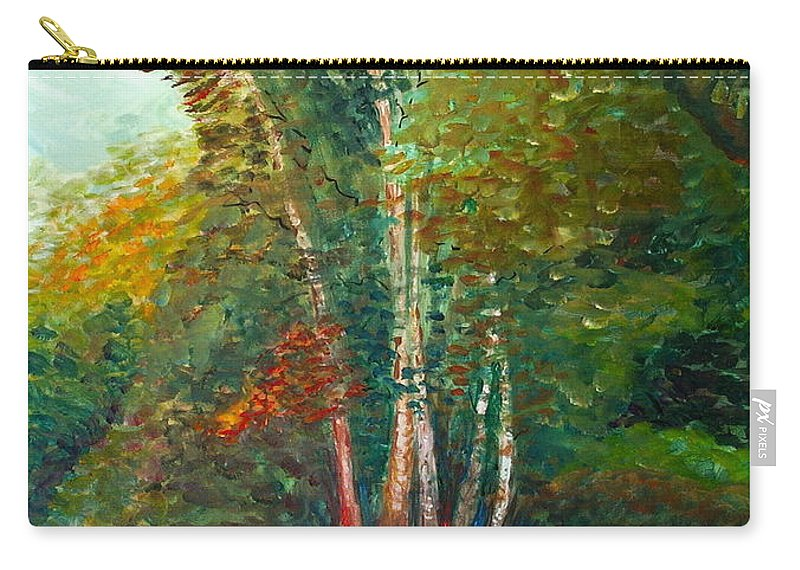 Landscape Carry-all Pouch featuring the painting Minnesota Quartet by Nadine Rippelmeyer