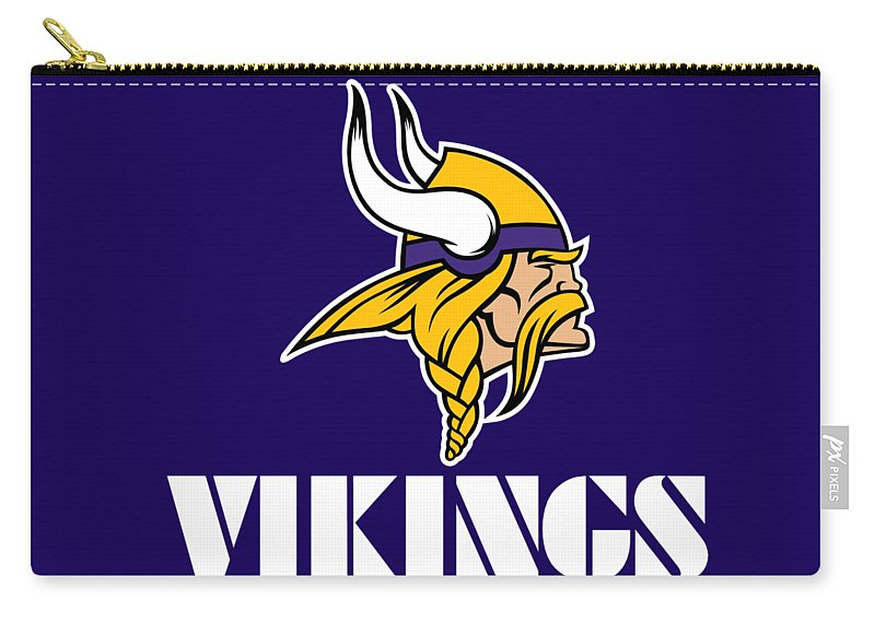 Minnesota Vikings Carry-all Pouch featuring the photograph Minnesota Vikings by Mitro Dente