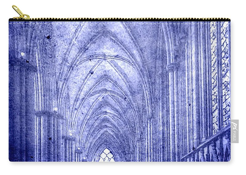 Abbey Carry-all Pouch featuring the photograph Minster In Blue by Svetlana Sewell
