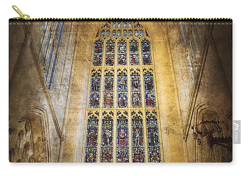 Abbey Carry-all Pouch featuring the photograph Minster Window by Svetlana Sewell