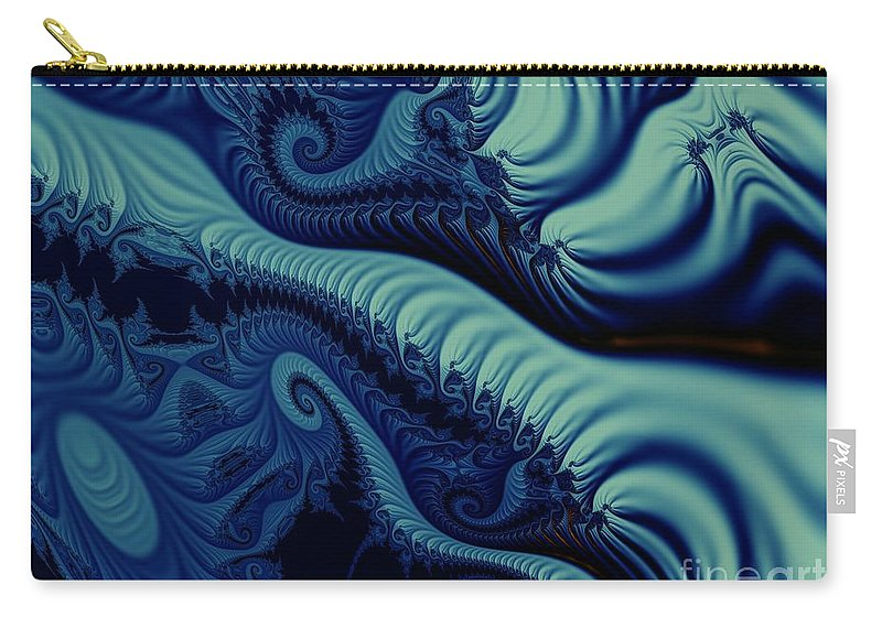 Fractal Image Carry-all Pouch featuring the digital art Mint by Ron Bissett