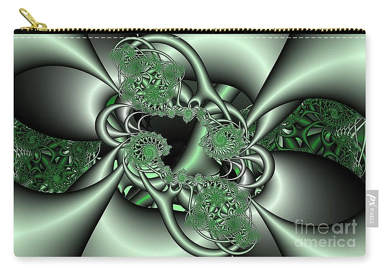 Fractal Carry-all Pouch featuring the digital art Mint3 by Ron Bissett