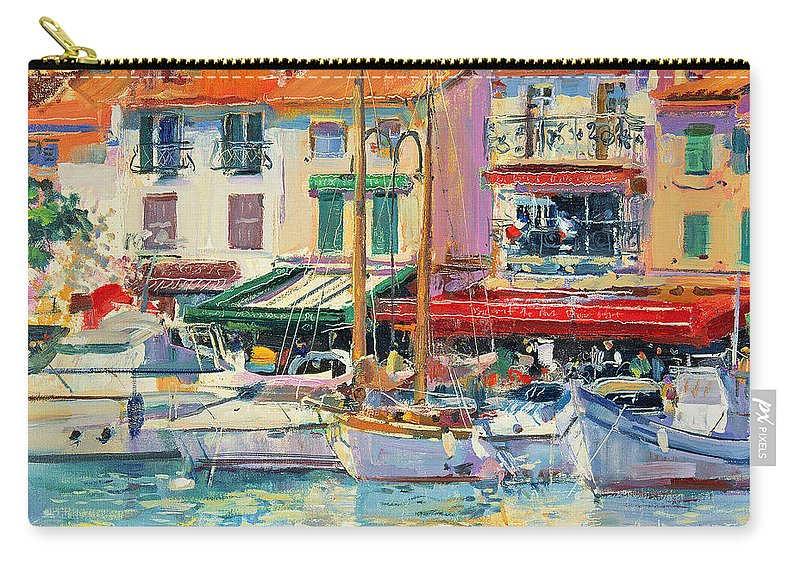 Pier Carry-all Pouch featuring the painting Mirabeau by Peter Graham