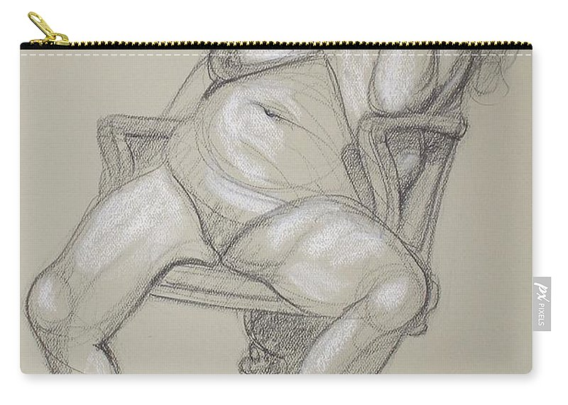 Realism Carry-all Pouch featuring the drawing Miriam 1 by Donelli DiMaria