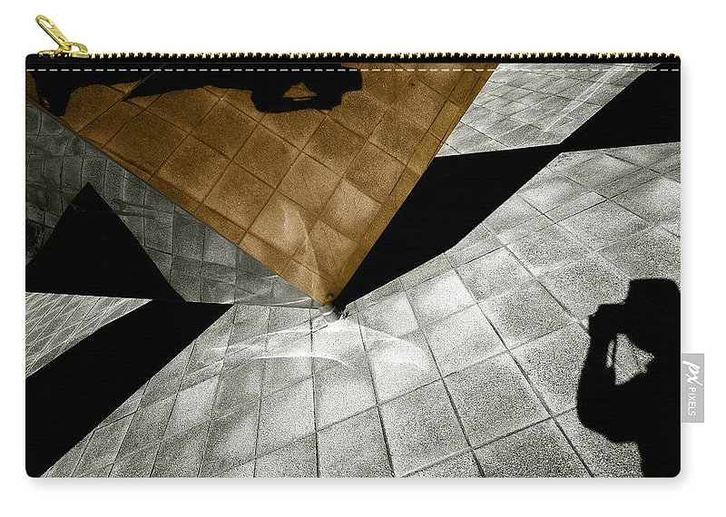 Sculpture Carry-all Pouch featuring the photograph Mirror Act by Wayne Sherriff