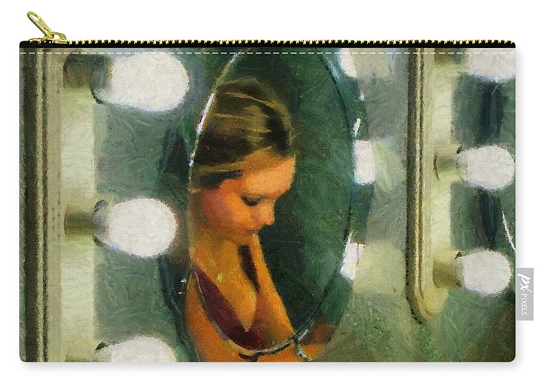 Bridesmaid Carry-all Pouch featuring the painting Mirror Mirror On The Wall by Jeffrey Kolker