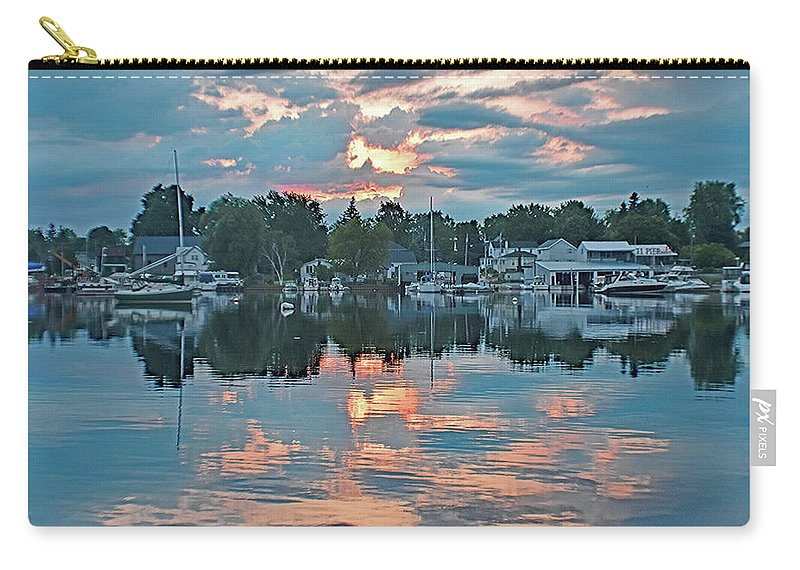 Mirror Carry-all Pouch featuring the photograph Mirror Morning by Joseph F Safin