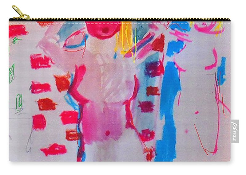 A Mirror Carry-all Pouch featuring the mixed media Mirror by Samuel Zylstra