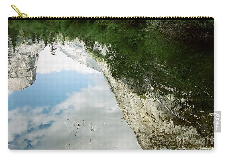 Mirror Lake Carry-all Pouch featuring the photograph Mirrored by Kathy McClure