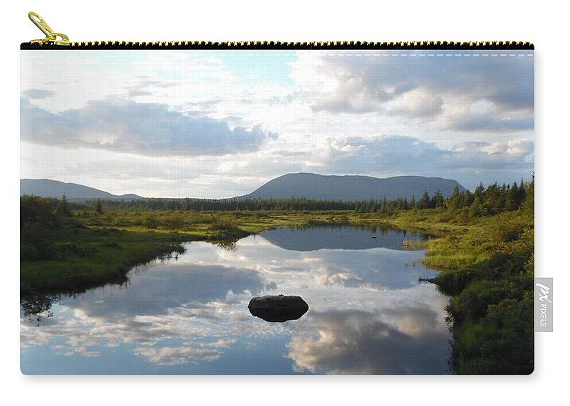 Pond Carry-all Pouch featuring the photograph Mirrors by Julie Houle