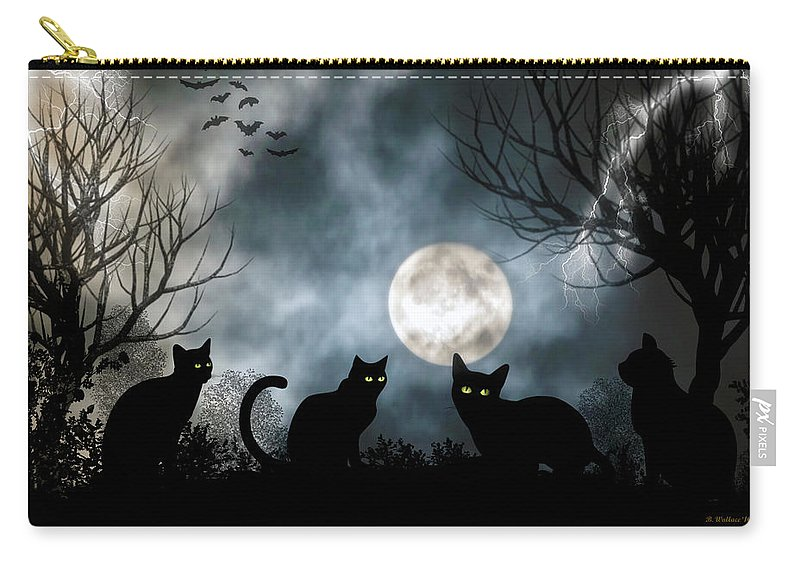2d Carry-all Pouch featuring the photograph Mischief Times Four by Brian Wallace