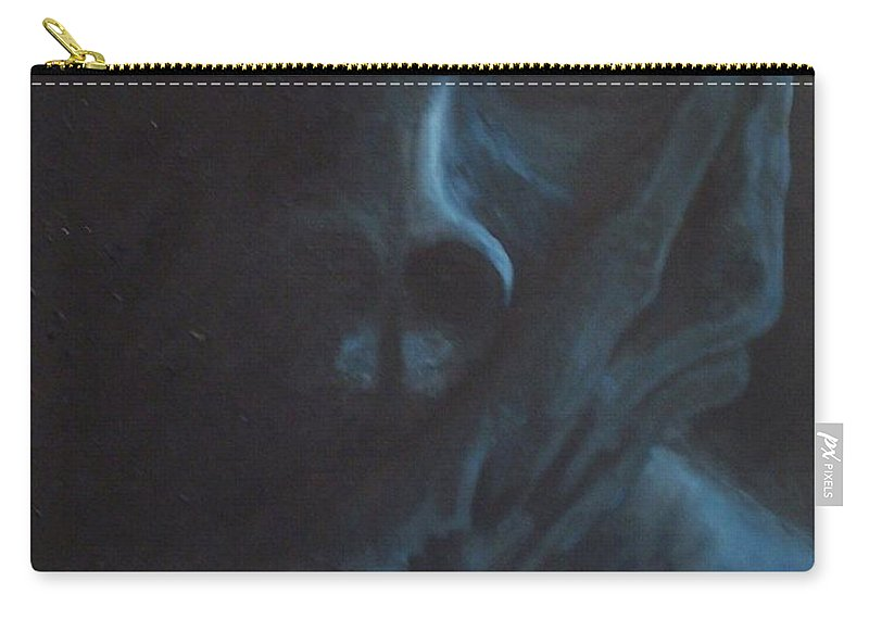 Sad Carry-all Pouch featuring the painting Misery by Gale Cochran-Smith