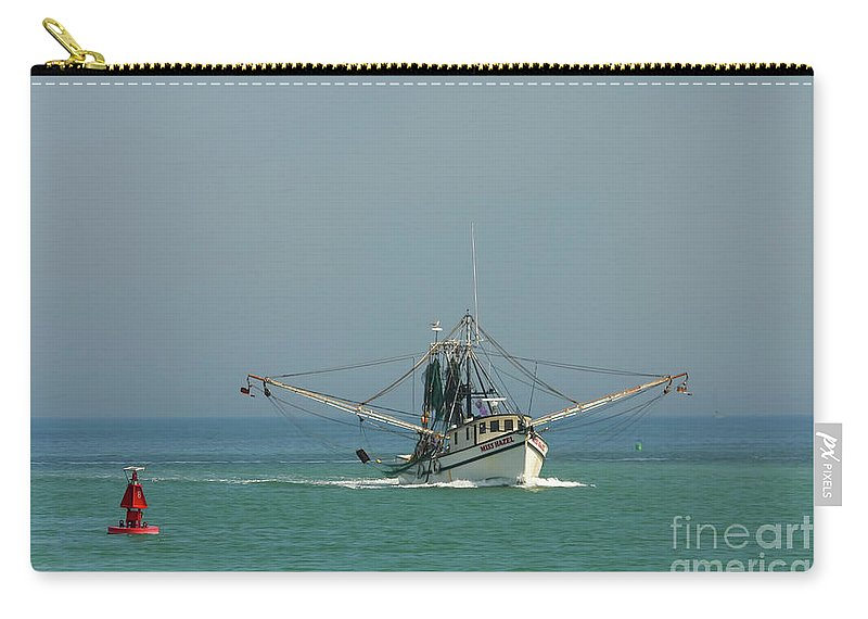 Fishing Boat Carry-all Pouch featuring the photograph Miss Hazel by Deborah Benoit