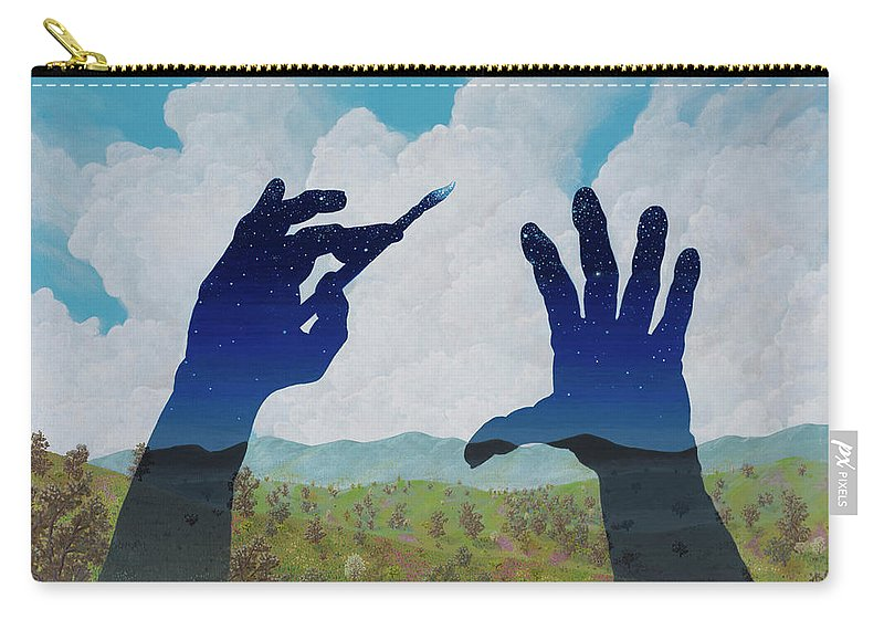 Landscape/ Surreal Carry-all Pouch featuring the painting Missed A Spot by Jon Carroll Otterson
