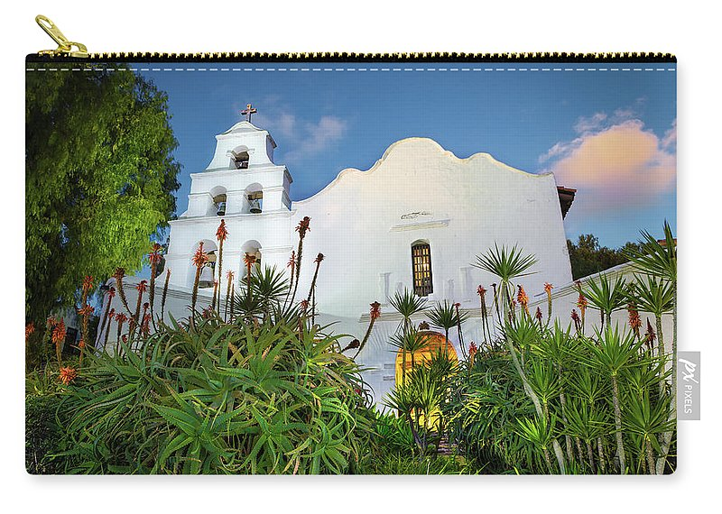 San Carry-all Pouch featuring the photograph Mission Basilica San Diego De Alcala by Creigh Photography