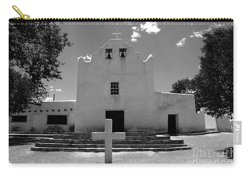 Mission San Jose Carry-all Pouch featuring the photograph Mission San Jose by David Lee Thompson