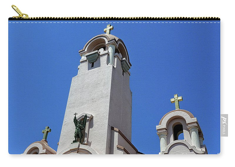 Mission San Rafael Arcangel Carry-all Pouch featuring the photograph Mission San Rafael Arcangel by Methune Hively