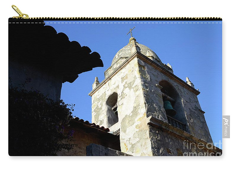 Coast Carry-all Pouch featuring the photograph Mission Tower by Bob Christopher