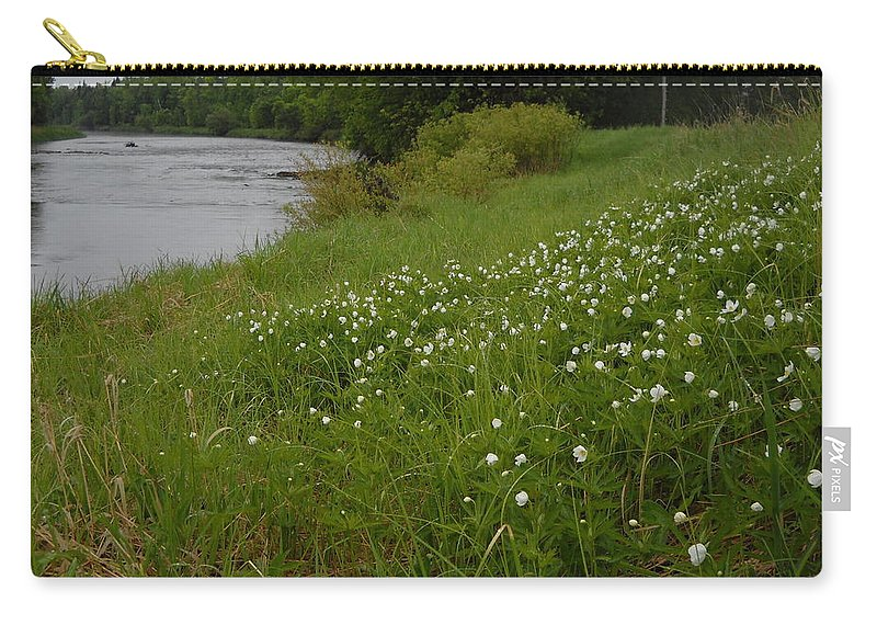 Wild Flowers Carry-all Pouch featuring the photograph Mississippi River Bank Flowers by Kent Lorentzen