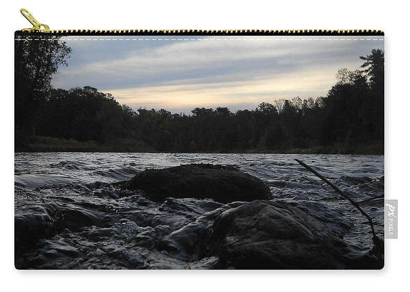 Mississippi River Carry-all Pouch featuring the photograph Mississippi River Dawn Sky by Kent Lorentzen