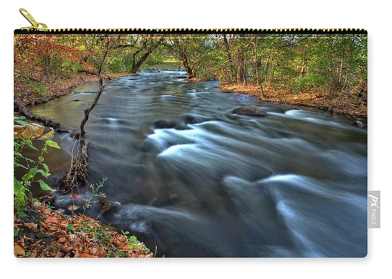 Mississippi Carry-all Pouch featuring the digital art Mississippi River Minneapolis by Mark Duffy