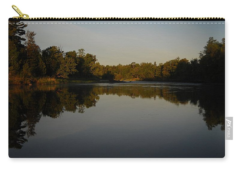 Mississippi River Carry-all Pouch featuring the photograph Mississippi River Mirror Like Water by Kent Lorentzen