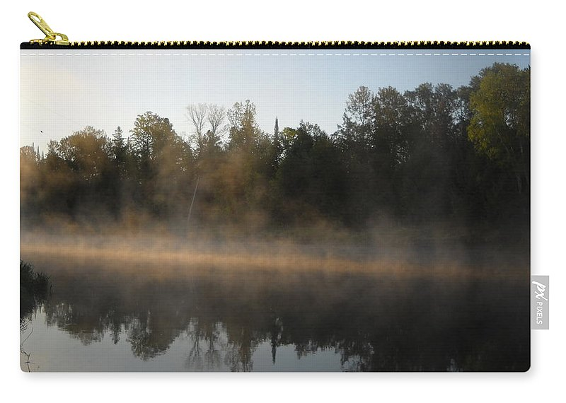 Mississippi River Carry-all Pouch featuring the photograph Mississippi River Smooth Reflection by Kent Lorentzen