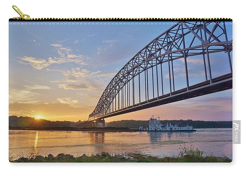 Mississippi Carry-all Pouch featuring the photograph Mississippi Sunrise Crossing by Red Cross