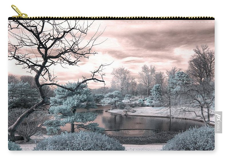 Missouri Botanical Garden Carry-all Pouch featuring the photograph Missouri Botanical Garden Infrared Pond Blue by Jane Linders