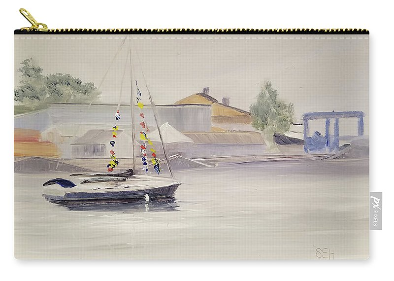 En Plein Air Carry-all Pouch featuring the painting Mist-bound by Susan Hanna