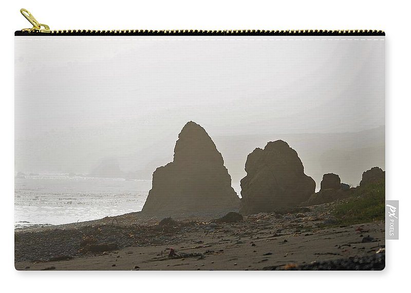 Rocks Carry-all Pouch featuring the photograph Mist by Michael Brown