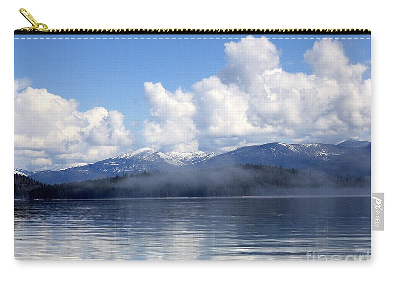 Priest Lake Carry-all Pouch featuring the photograph Mist Over Priest Lake by Carol Groenen