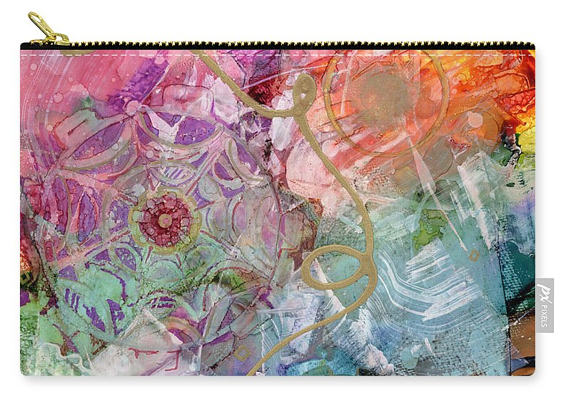 Alcohol Ink Carry-all Pouch featuring the painting Misty Awakening by Vicki Baun Barry