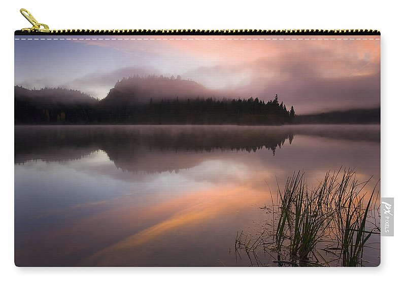 Sunrise Carry-all Pouch featuring the photograph Misty Dawn by Mike Dawson