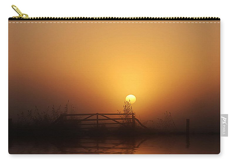 Daybreak Carry-all Pouch featuring the photograph Misty Daybreak by Joachim G Pinkawa