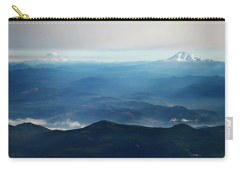 Mountains Carry-all Pouch featuring the photograph Misty Expanse by Elliot Stombaugh