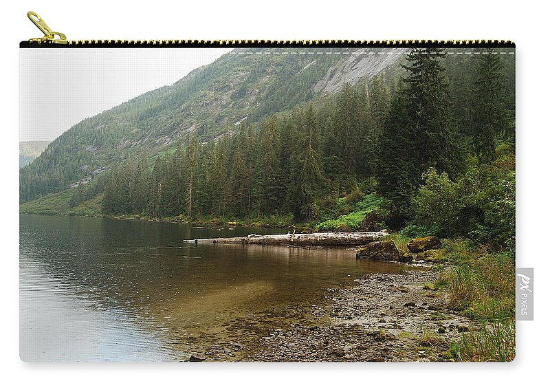 Alaska Carry-all Pouch featuring the photograph Misty Fjord 2 by Michael Peychich