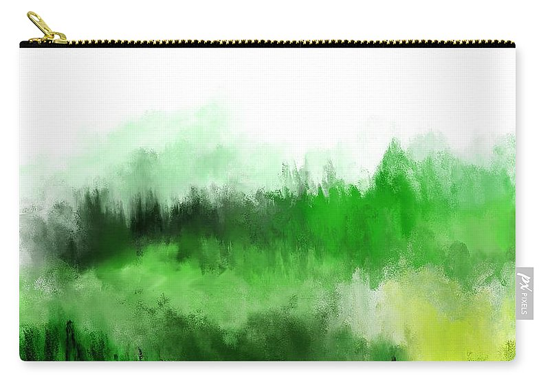 Fine Art Carry-all Pouch featuring the digital art Misty Forest by David Lane
